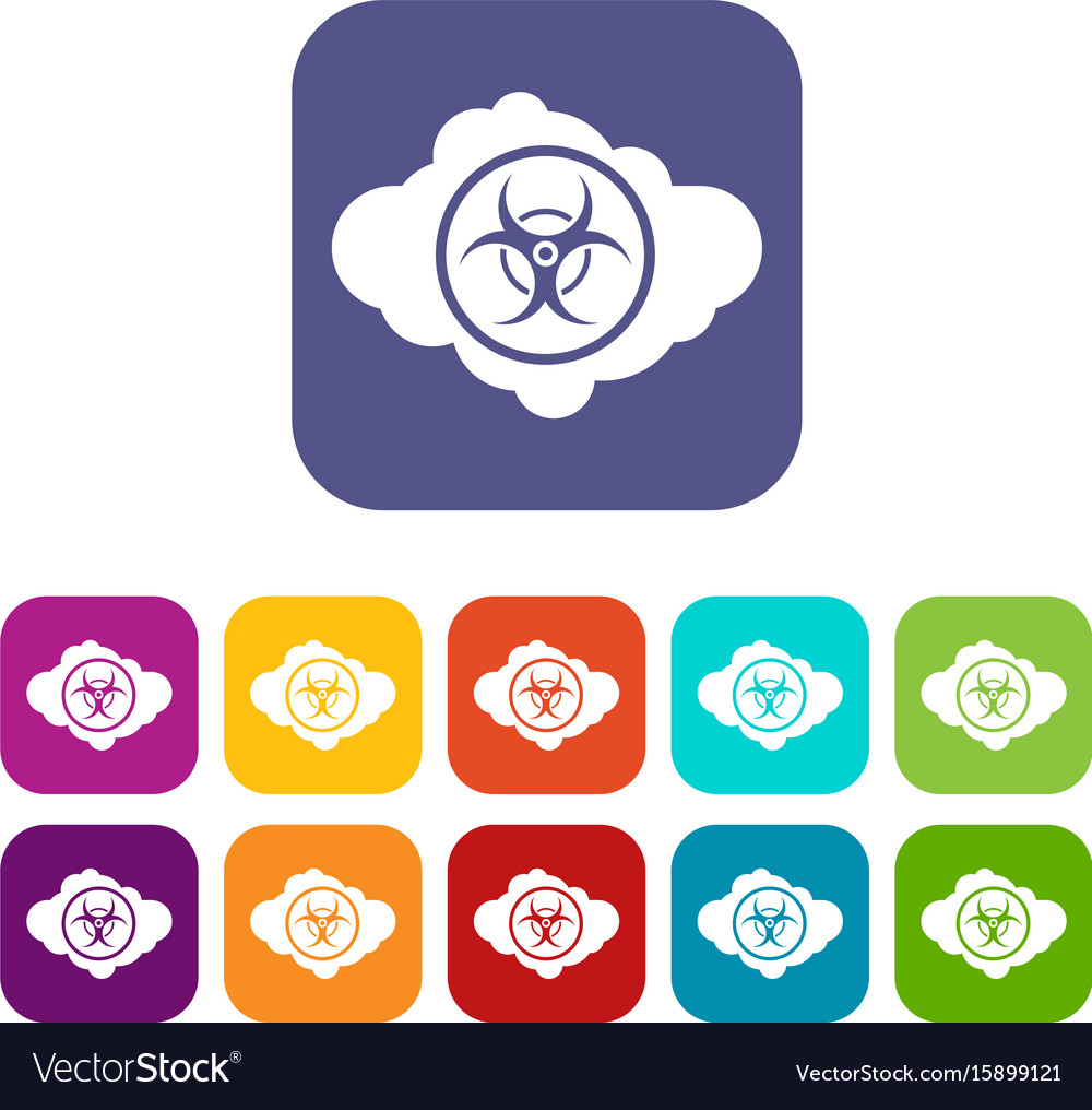 Cloud with biohazard symbol icons set royalty free vector cloud with biohazard symbol icons set vector image biocorpaavc Images