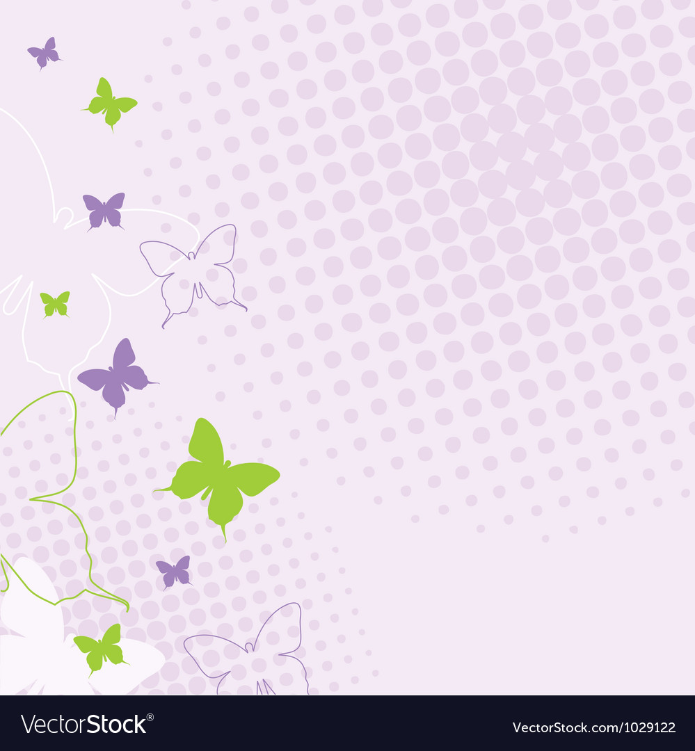 Spring butterfly background vector image