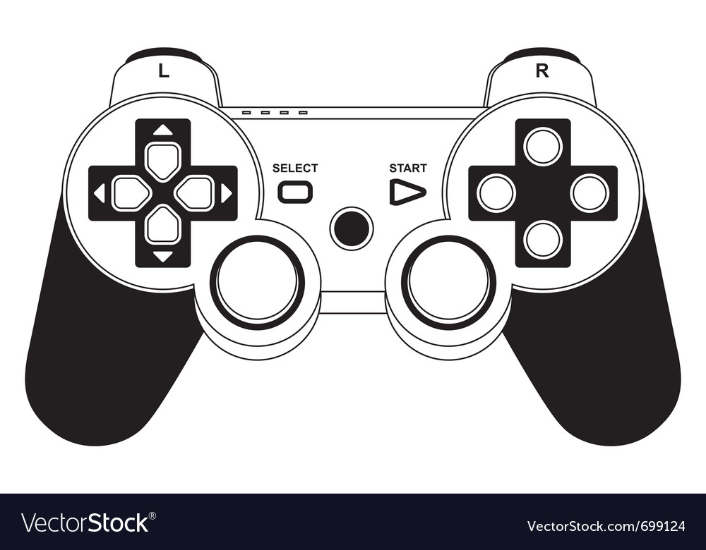 Gamepad joystick vector image