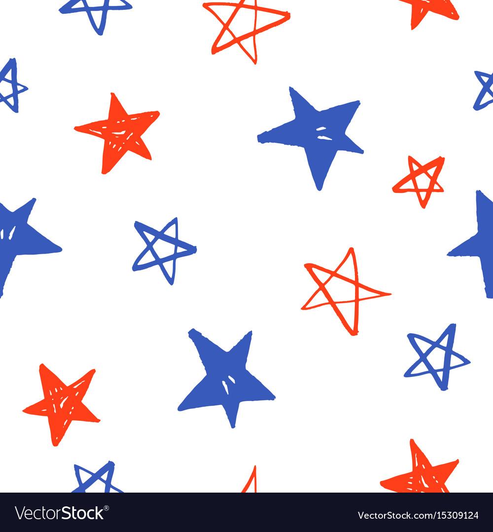 Sketchy hand drawn stars vector image