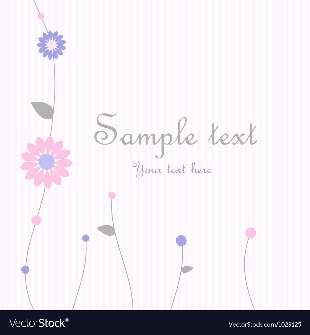 Spring Floral Greeting card Vector Image