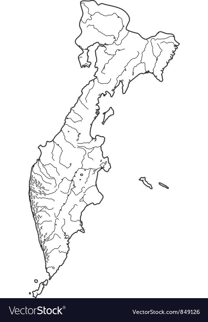 Map of Russian Kamchatka vector image