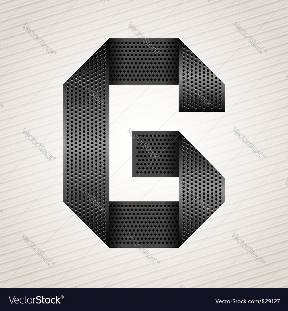 Letter metal ribbon - G vector image