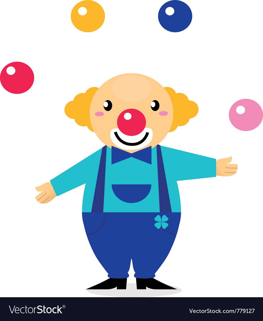 Cartoon clown character vector image