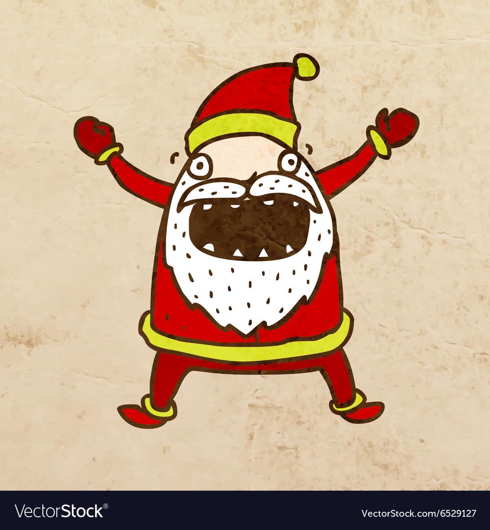 Father Christmas Cartoon vector image