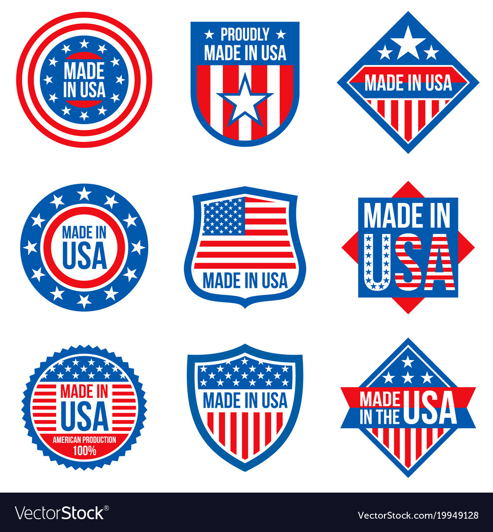 Made in the usa labels american royalty free vector image made in the usa labels american vector image buycottarizona
