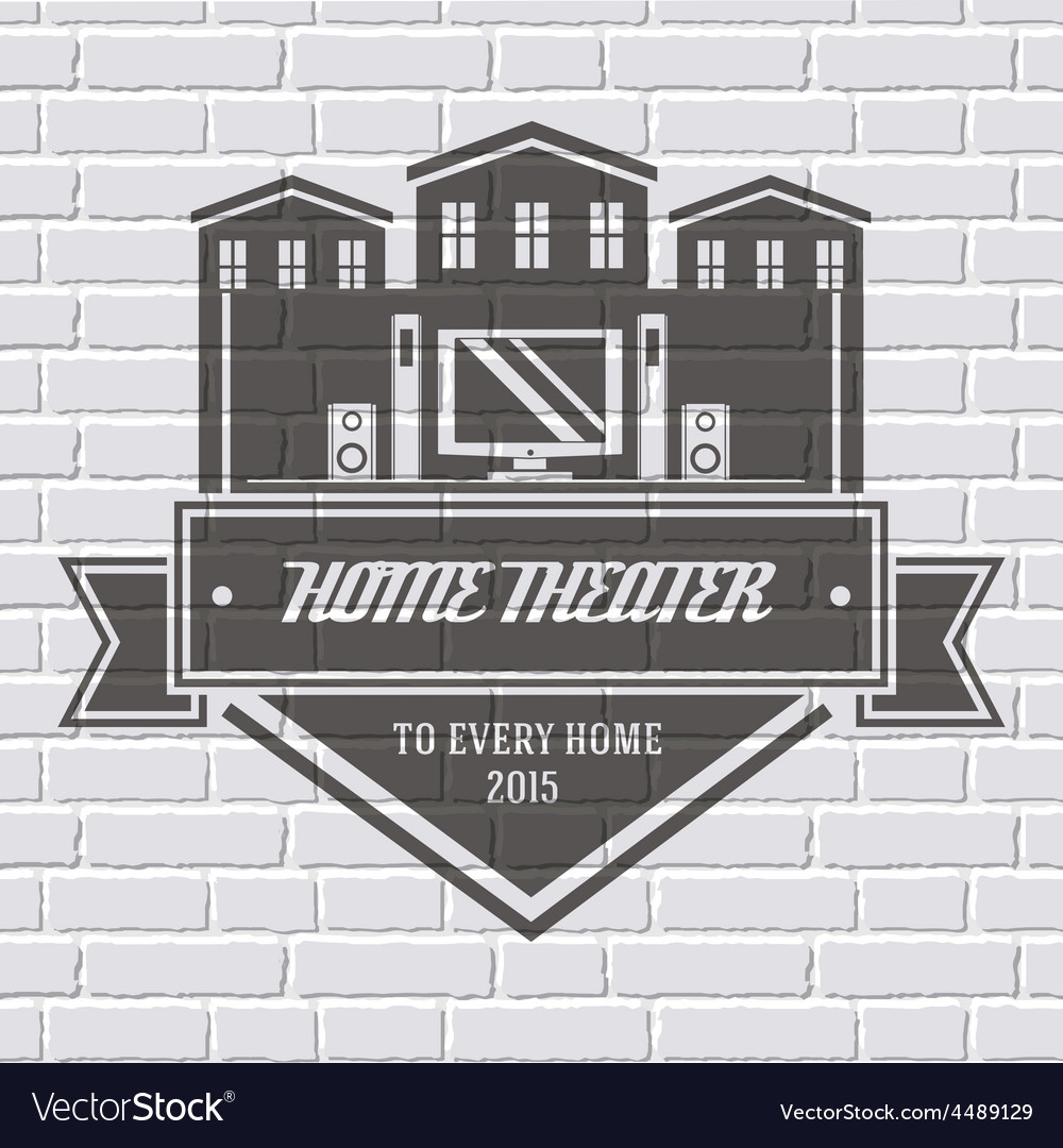 Household appliances logo or label template Vector Image