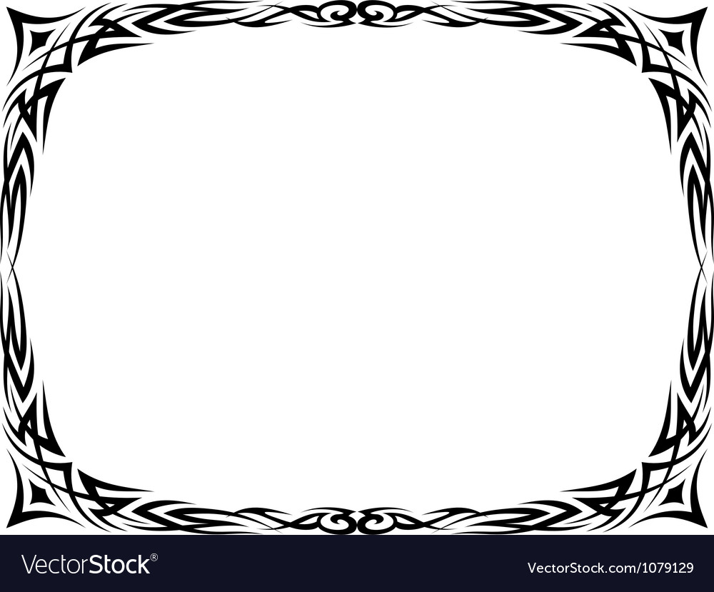 Tattoo ornamental decorative frame vector image