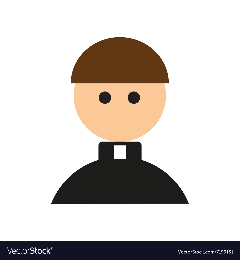 Flat web icon on white background Priest