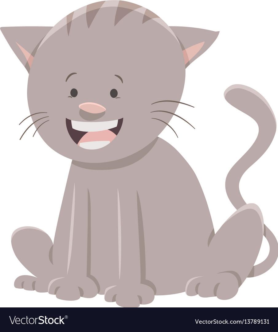 Cat or kitten cartoon character vector image