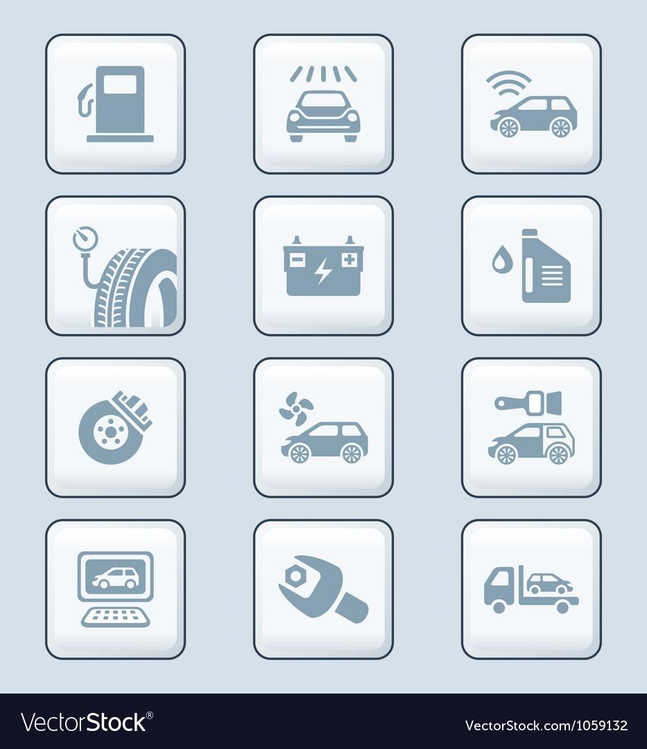 Car service icons - TECH series vector image