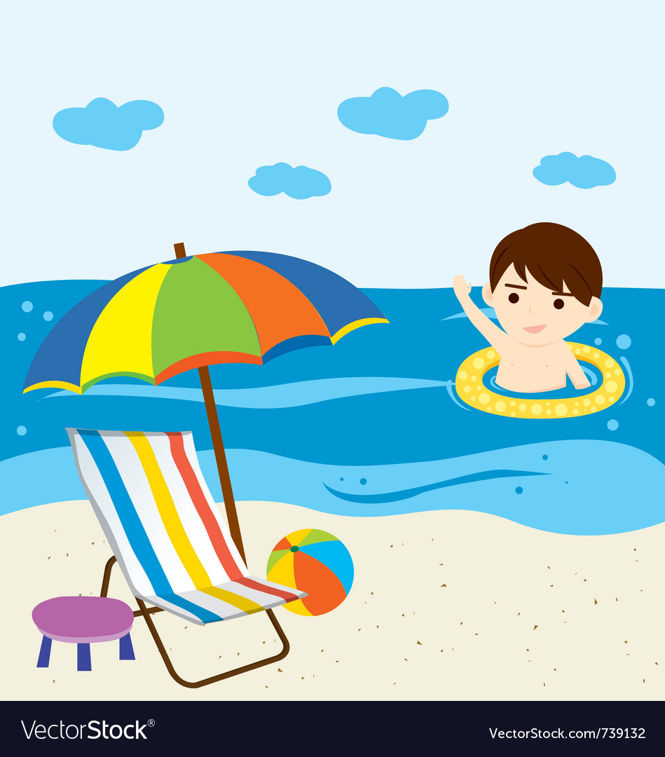 Beach vector image
