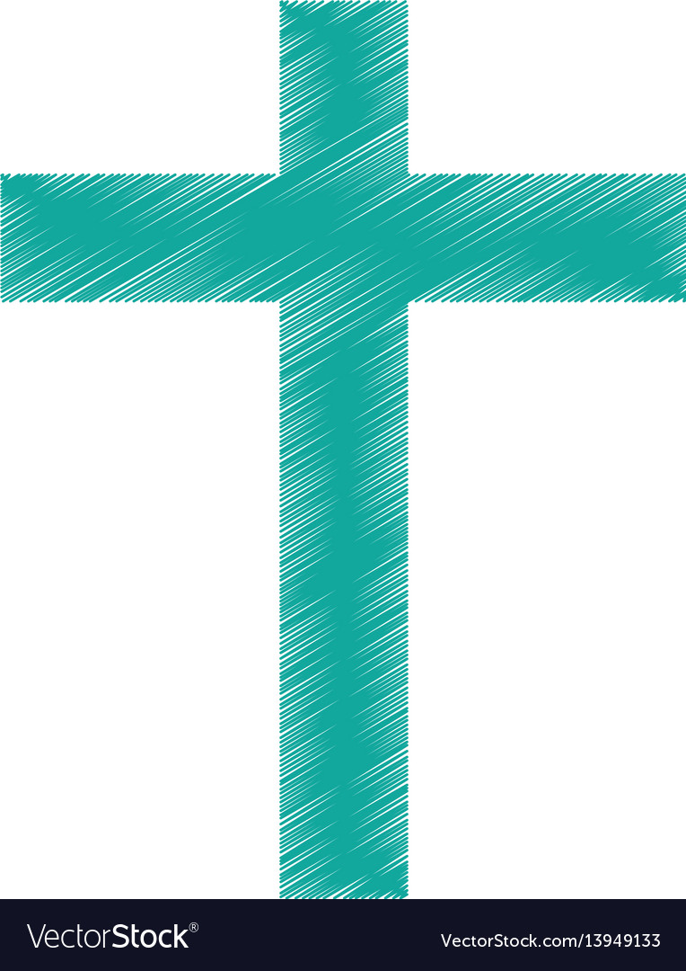 Religious cross isolated icon vector image