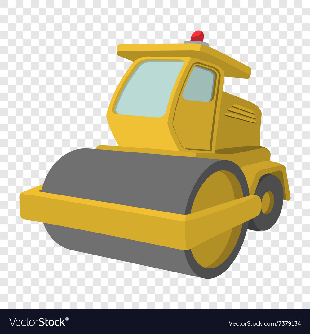 Excavator cartoon icon vector image
