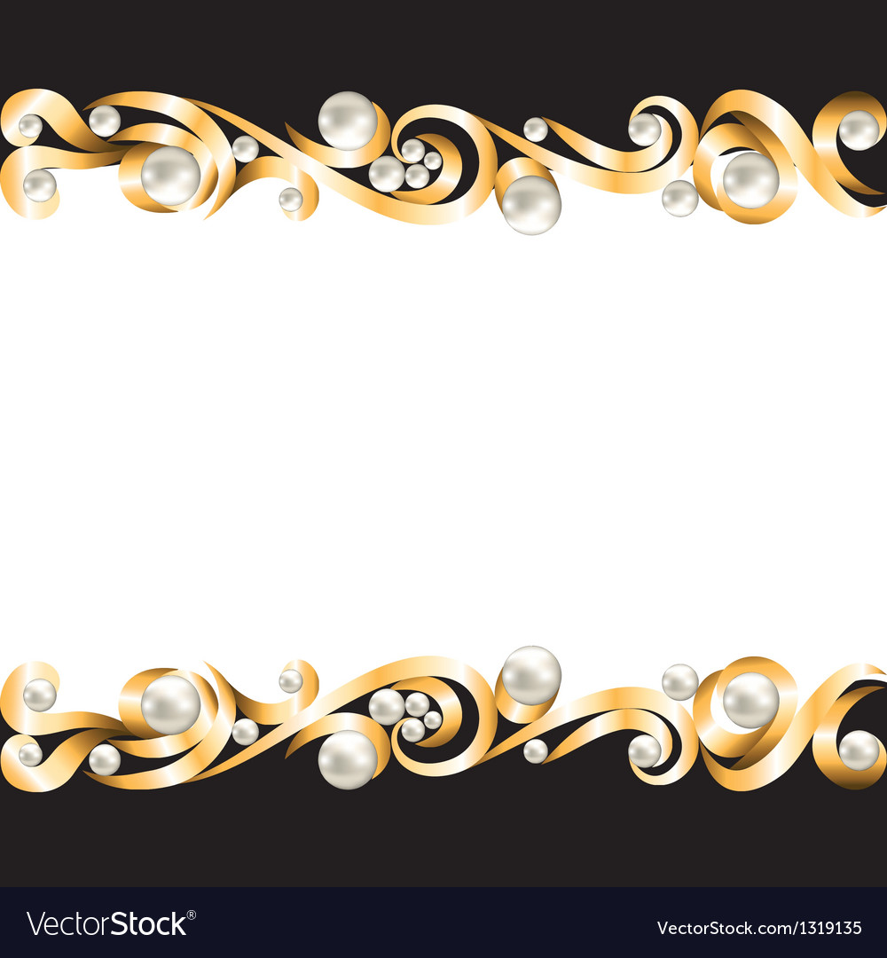 Jewelry Design Line Art : Gold jewelry frame royalty free vector image vectorstock