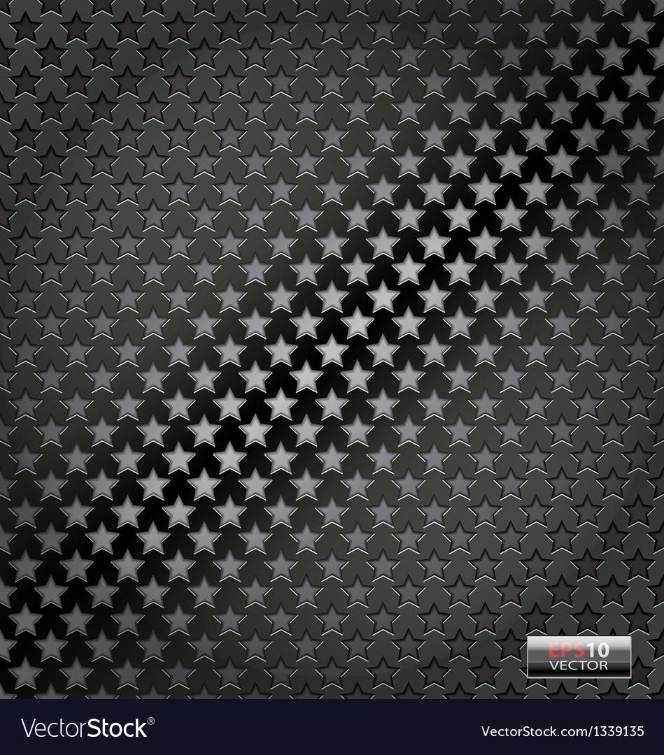 Star lite dynamic metal background vector image