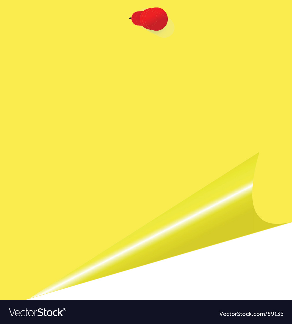 Yellow memo stick vector image