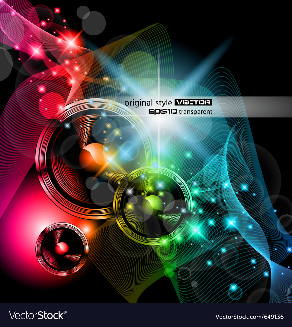 Disco event background Vector Image