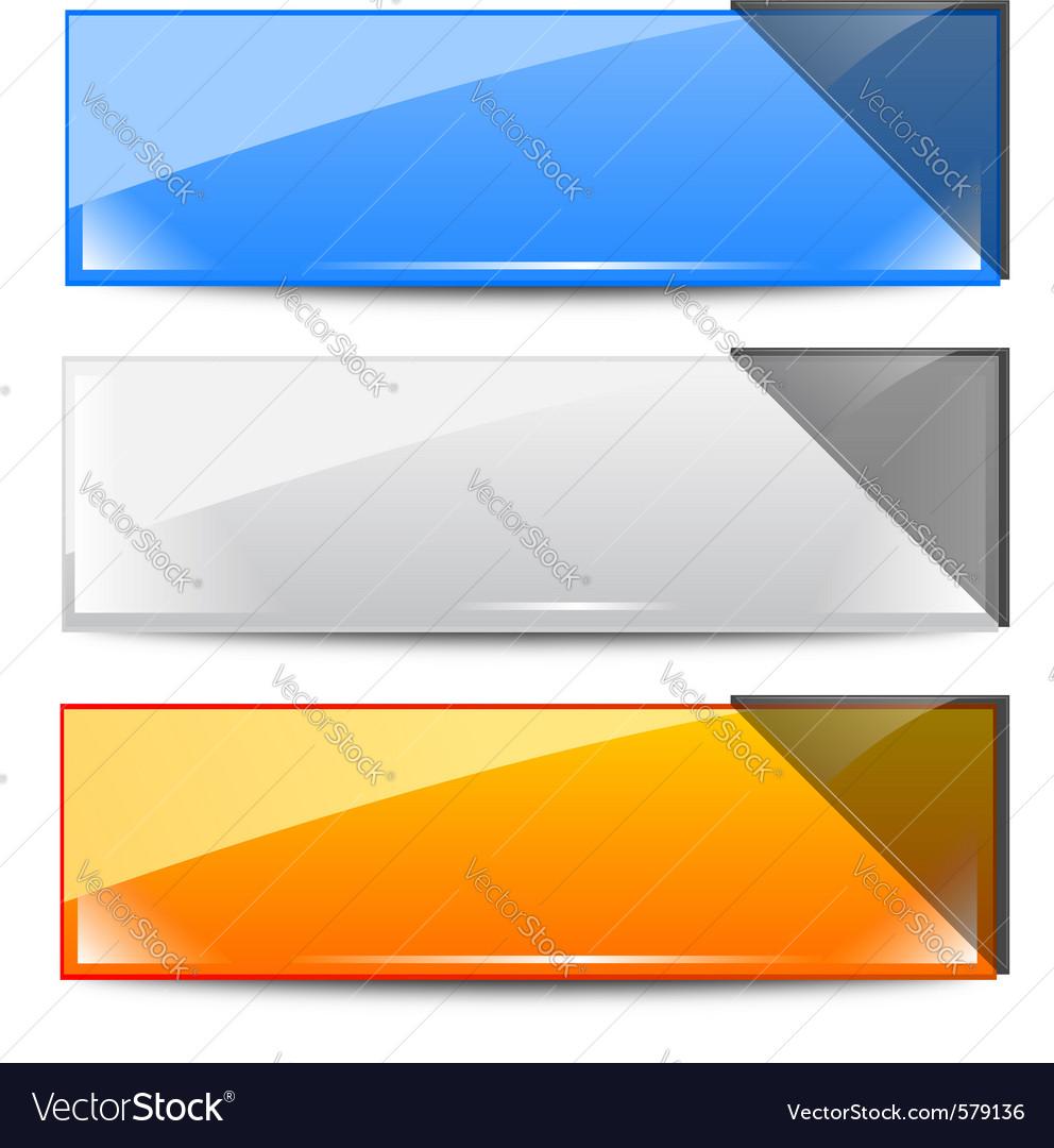 Banner frames Royalty Free Vector Image - VectorStock
