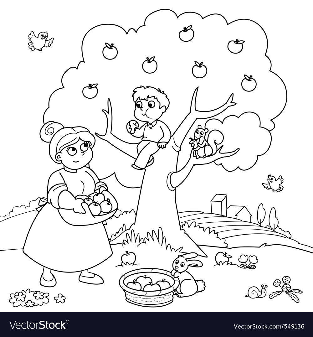 Apple Coloring Pages and Color Sheets - Free Printable Coloring
