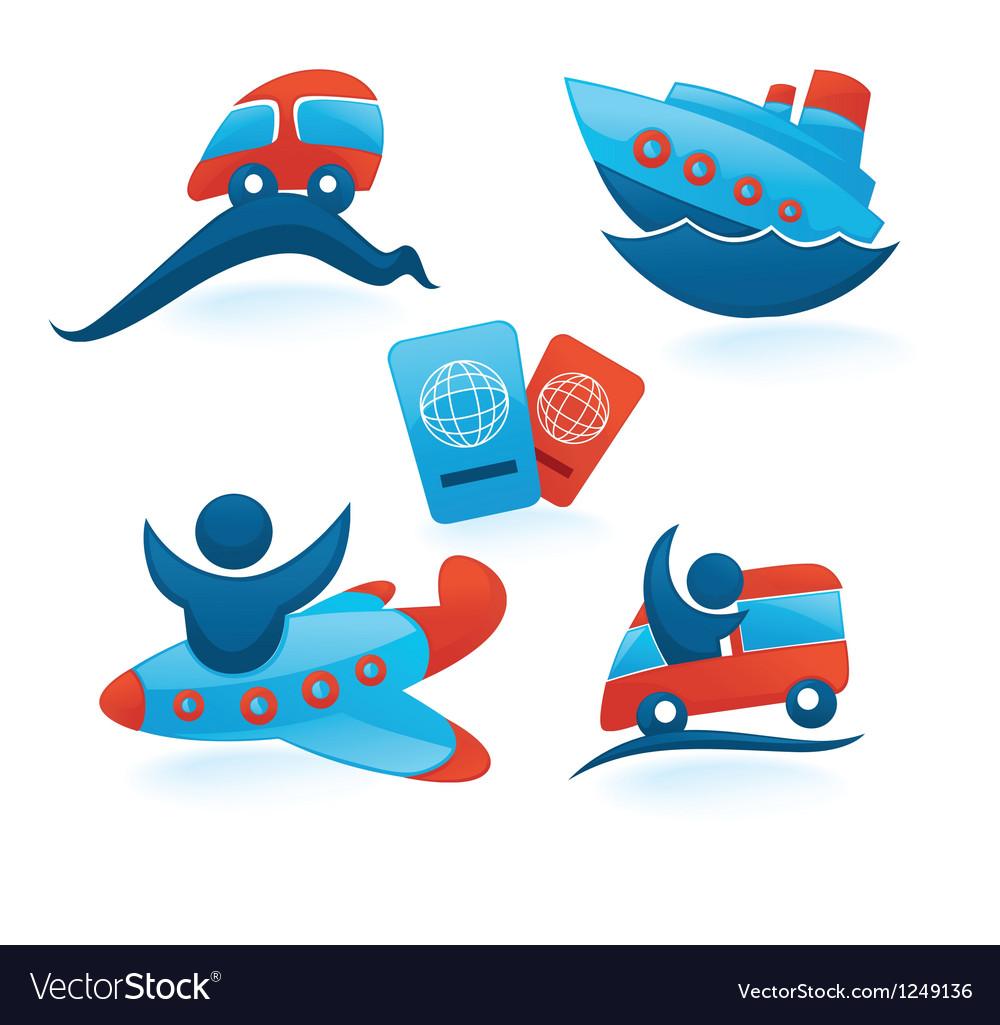 Travel transportation vector image