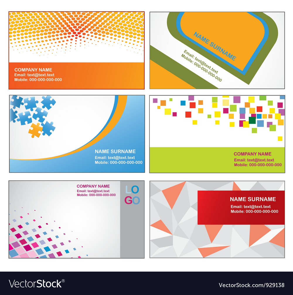 Business card templates royalty free vector image business card templates vector image wajeb Gallery