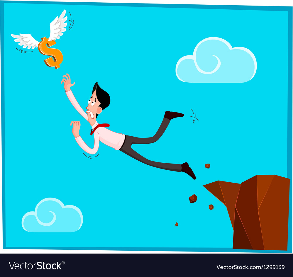 Chasing a dollar vector image