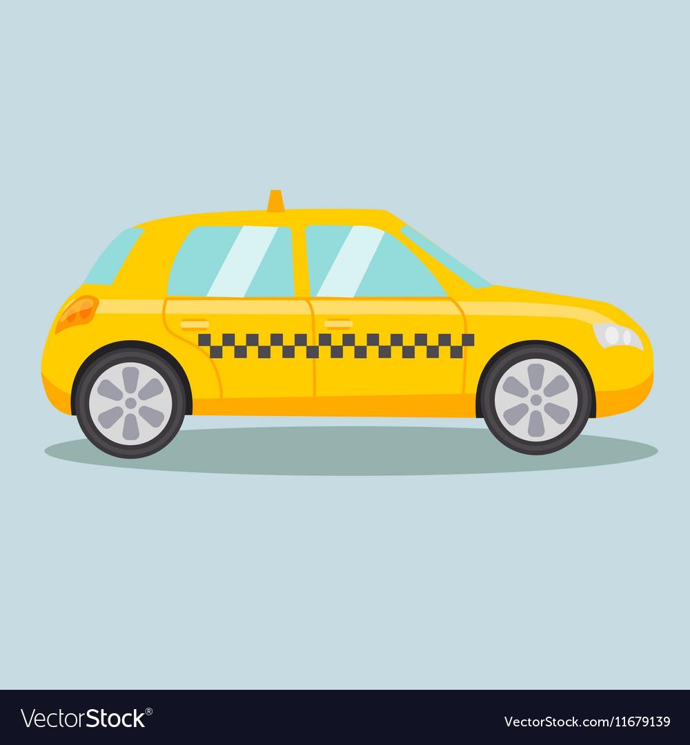 Taxi yellow car cartoon vector image