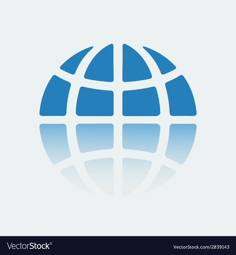 Emblem of the planet earth stencil vector image