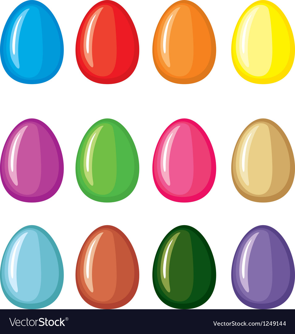 Color egg vector image