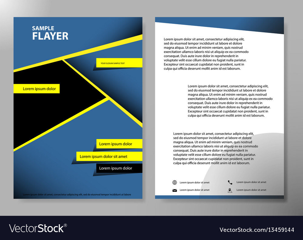 Flyer cover business brochure design vector image