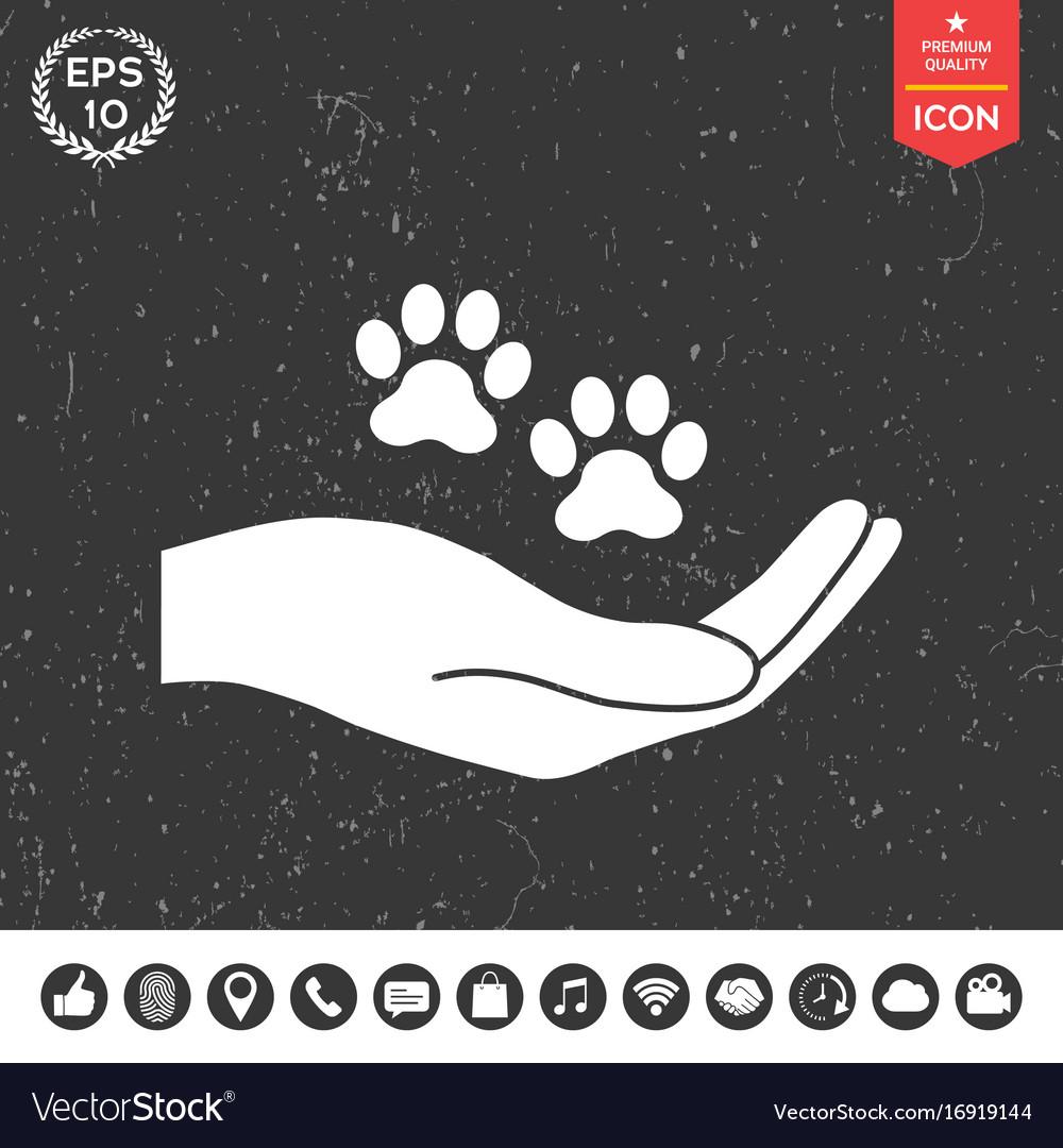 Hand holding paw symbol animal protection vector image hand holding paw symbol animal protection vector image biocorpaavc