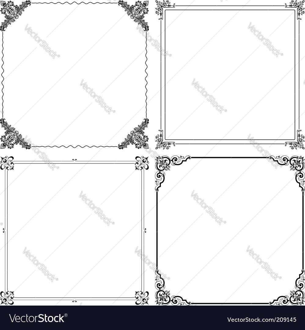 elegant frames vector image - Elegant Frames