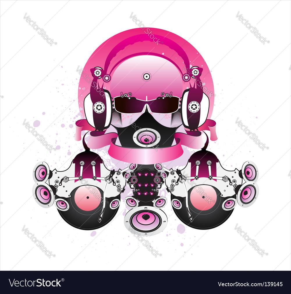 Fantastic dj vector image