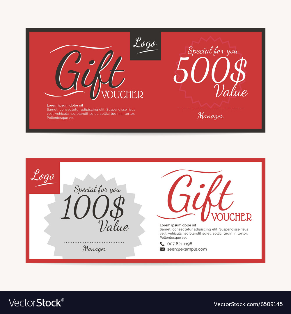 Makeup gift certificate template choice image templates example gift certificate format word contact list template gift voucher template eps10 format royalty free vector image xflitez Choice Image
