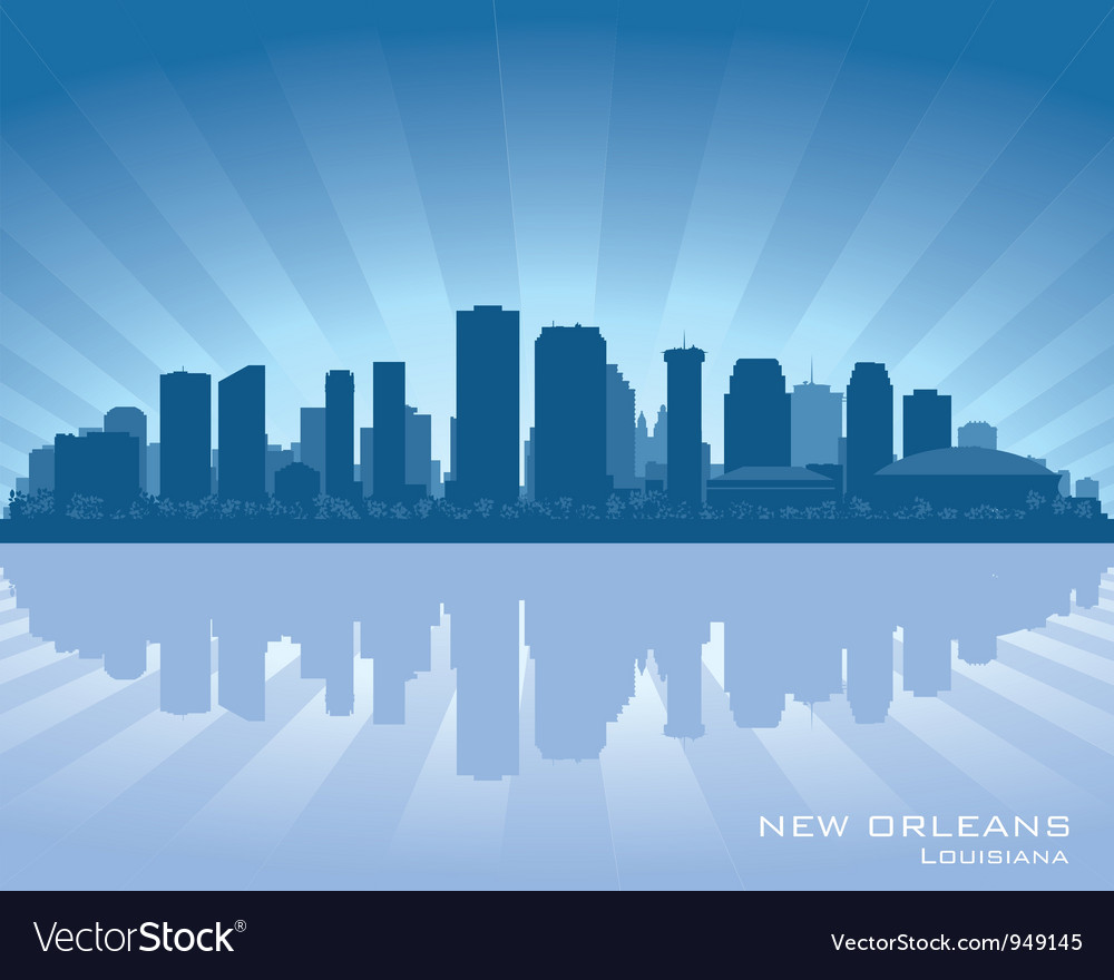New Orleans Louisiana skylin vector image
