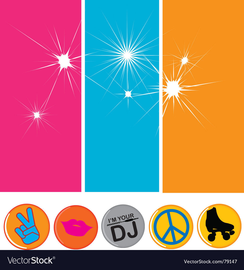 Disco flavor vector image