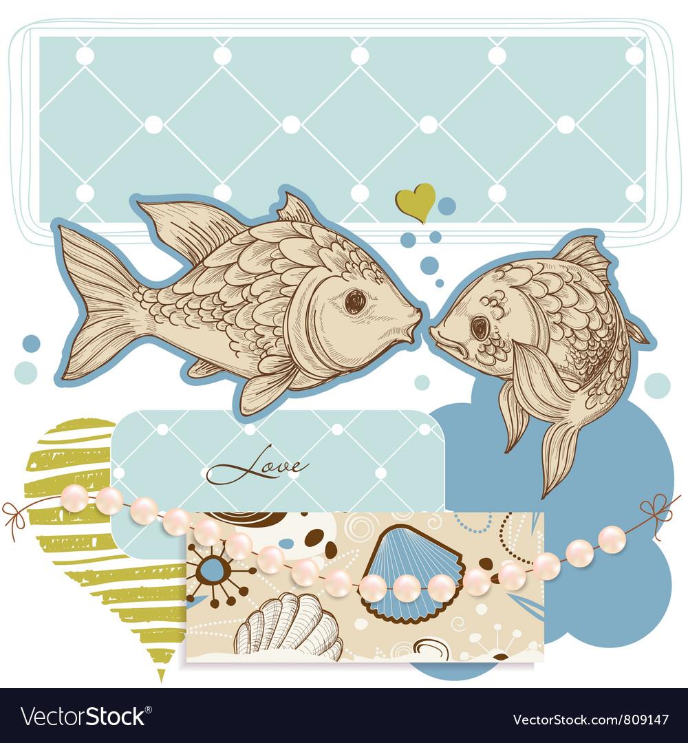 Sea background vector image