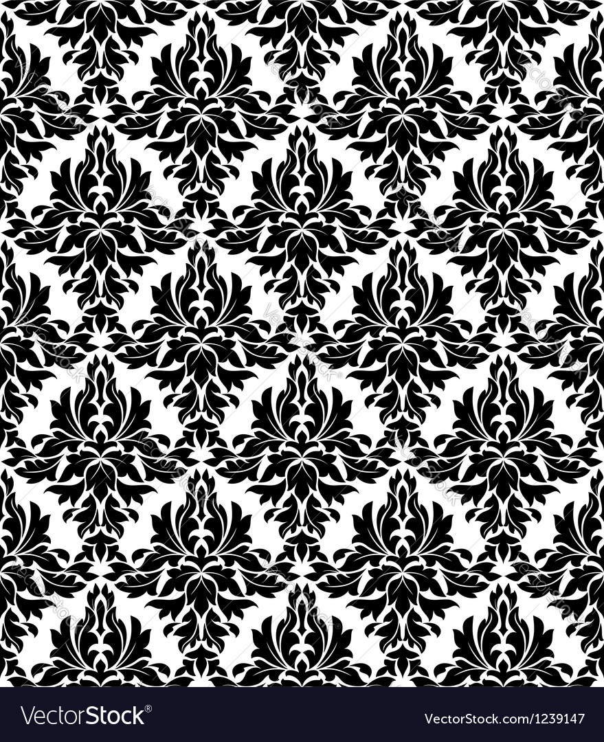 Seamless background in retro damask style vector image
