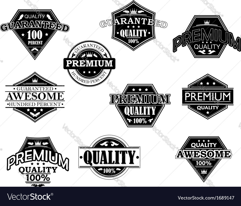Set of labels and banners in retro style vector image