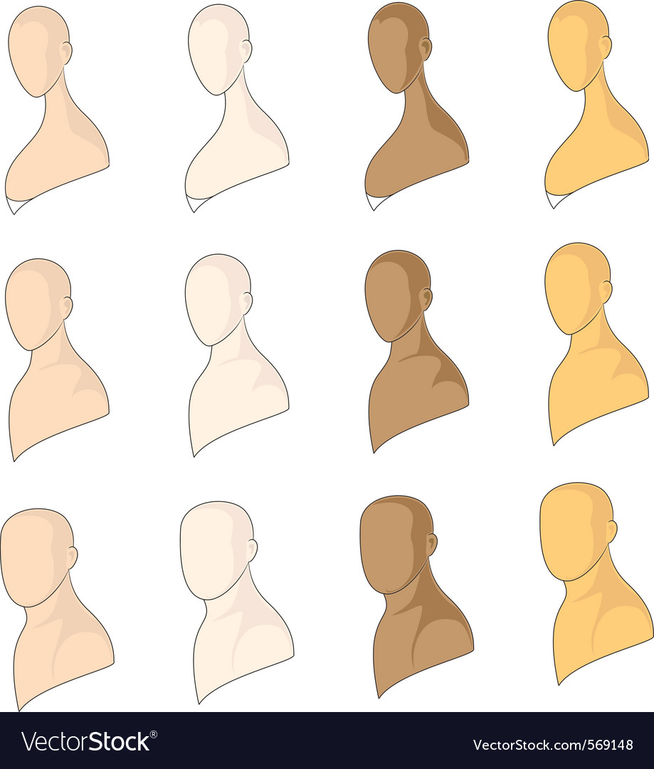 Human models vector image