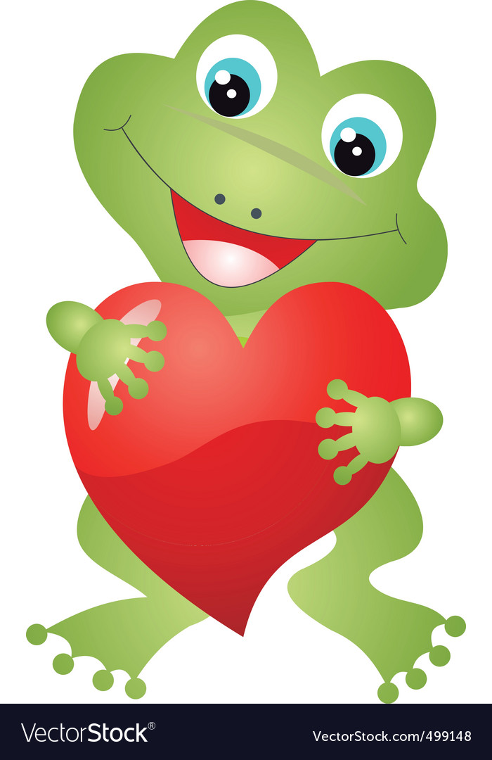 Frog heart royalty free vector image vectorstock for Frog agency