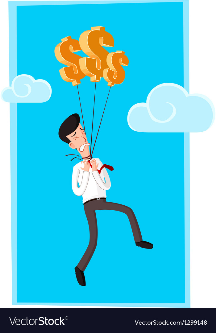 Hanged by dollar vector image