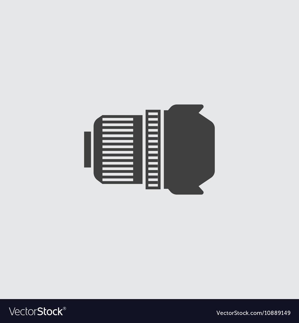 Camera lens icon vector image