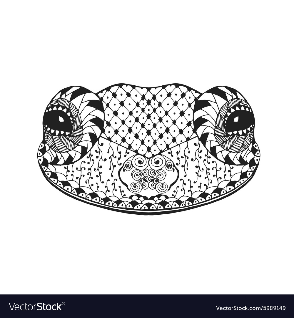 Zentangle stylized frog Sketch for tattoo or t vector image