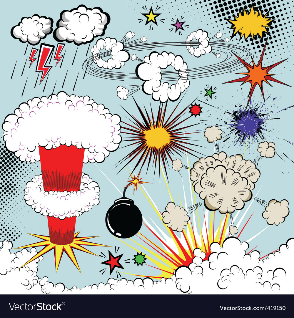 Vector comic book explosion vector image
