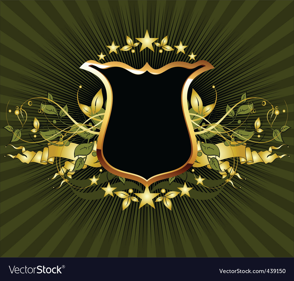 Ornamental shield vector image