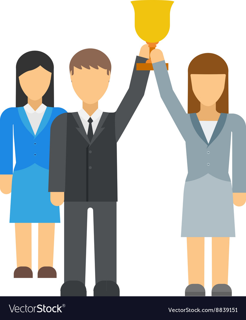 Successful team business leaders vector image