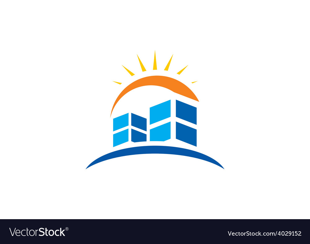 Abstract city building logo vector image
