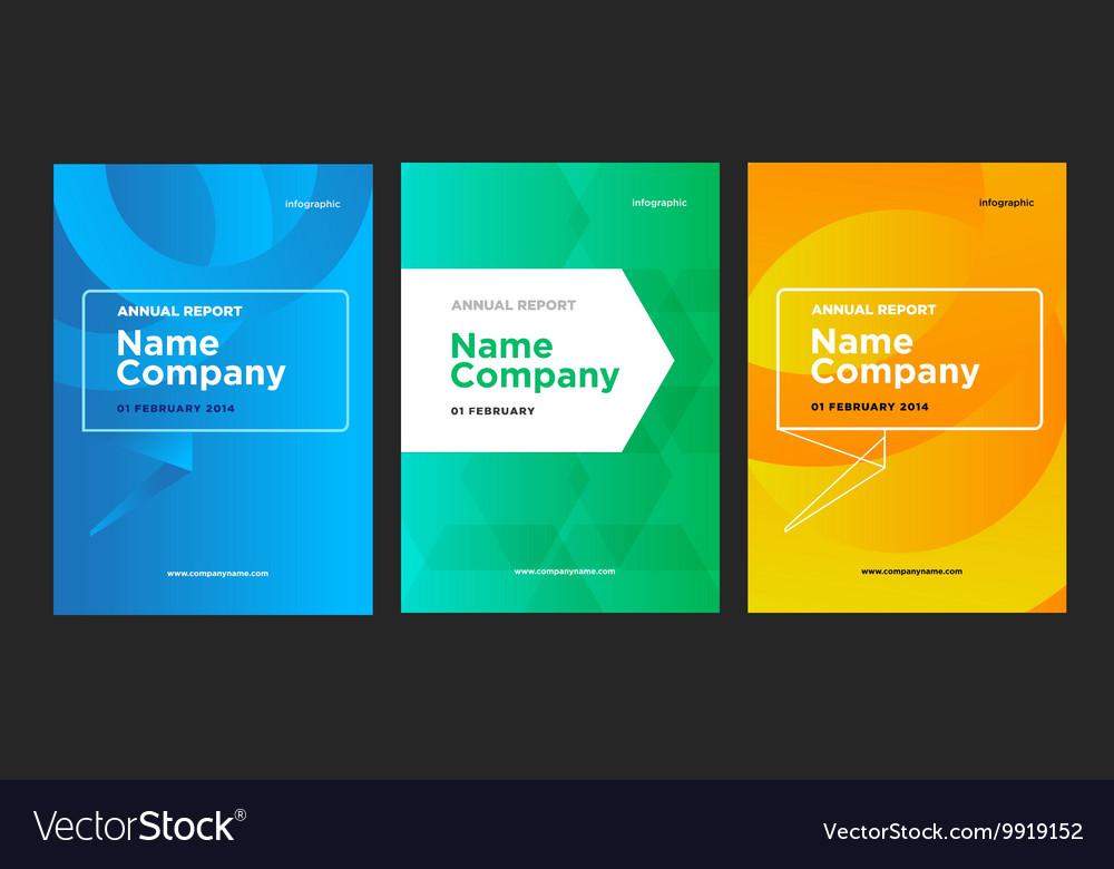 Flyer leaflet booklet layout set design vector image